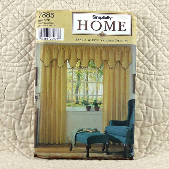 Home Decor Window Treatments: Window Treatments Pattern Simplicity 7885 Home Decor Five