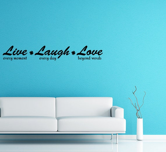 Beyond Words Customizable Wall Decor Kohls : Wall decal quote live every moment laugh by wallstickersdecals