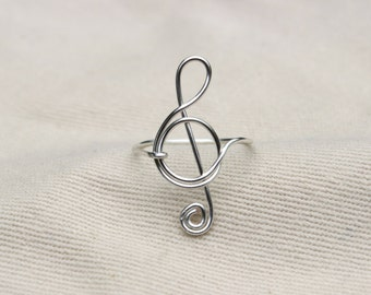 Treble Clef Ring // Treble Clef Rings // Music Rings // Musical Ring