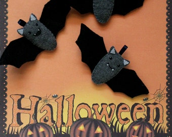 Bat Ornament, Halloween Decoration, Felt Decoration, Home Decor