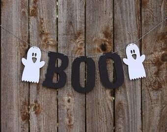 Halloween Banner, Halloween Bunting, Halloween Garland, Boo Banner, Letter Banner, Halloween Decor, Ghost Banner, Mantle Decor Decoration