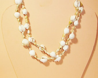 SALE 60% OFF-Handmade Texas Gulf Coast Shell Necklace 47 Inches