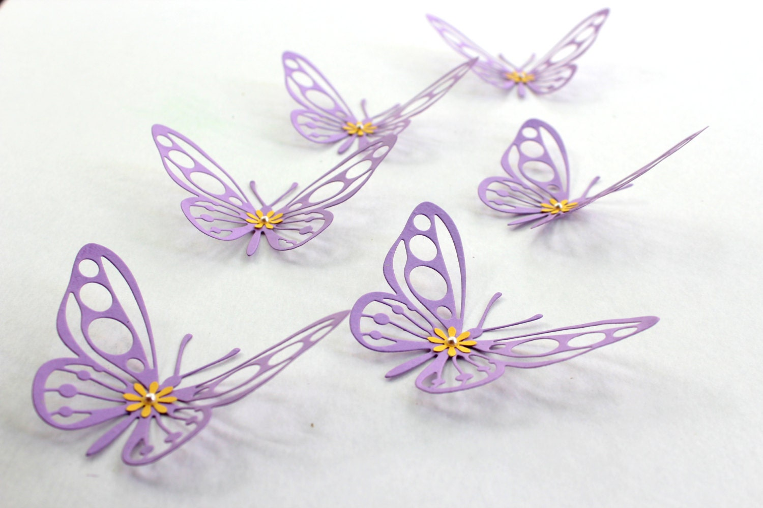 Purple butterfly baby shower purple wall art paper for 3d wall butterfly decoration