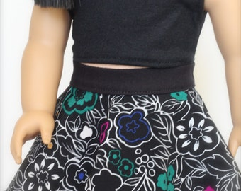 Black CROP TANK TOP for 18 Inch Doll such as American Girl Doll