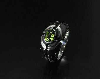 "Silver Industrial Ring ""Piorundum"" 