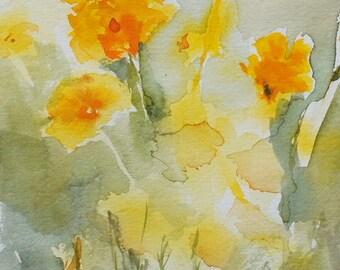 "Original Watercolor Painting - ""Summer Poppies"""