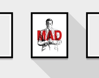 Don Draper Mad Men TV Print