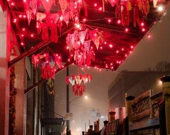 Portland City Street / Photograph / Pearl District / Lanterns / Fine Art