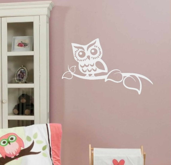 children wall decal kids wall art owl decor by vinylwallquotes