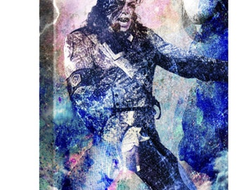 Michael Jackson Canvas Art,  MJ Original Painting Art Print