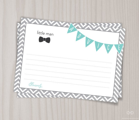 Baby Shower Tips For New Moms: Little Man Baby Shower Game Baby Shower Advice Card Mom Dad