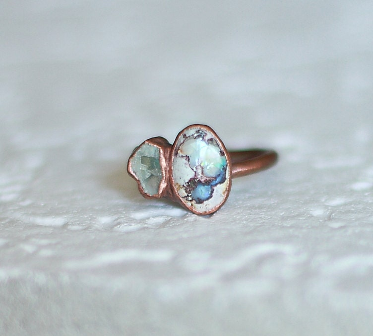 Raw Opal Ring Ethiopian Opal Ring Natural Opal Ring Raw