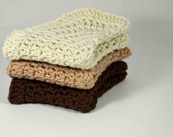 Crochet Dishcloths -  Cotton Crochet Dishcloths