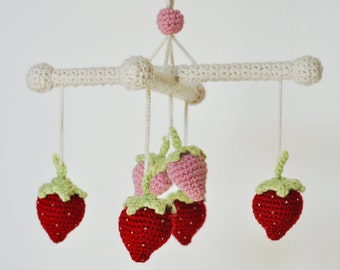 Strawberry Baby Mobile