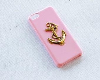 iPhone 5c Anchor Case Nautical iPhone 5c Case Pink iPhone 5c Case Cover Smartphone Hard Case Cute iPhone 5c Case 5c Case Gold Pink