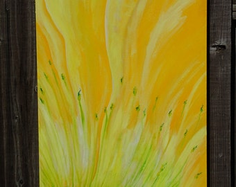 Abstract yellow poppy
