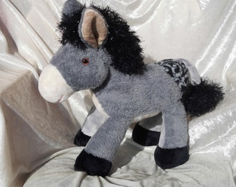 Stuffed animal DONKEY plush soft toy donkey stuffed donkey HANDMADE donkey unique donkey OOAK donkey ane peluche stuffed mule plush