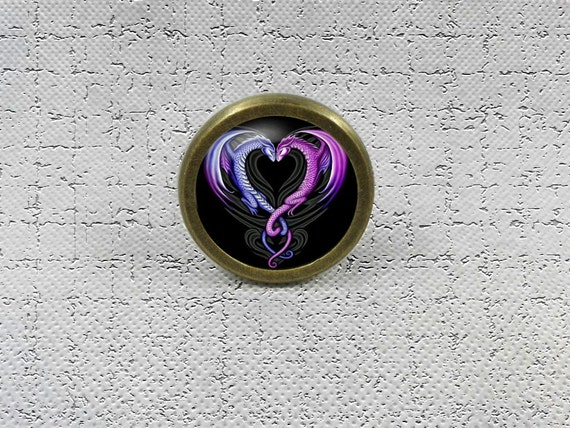 Heart from dragon Drawer Knobs Pulls Handles / Kitchen