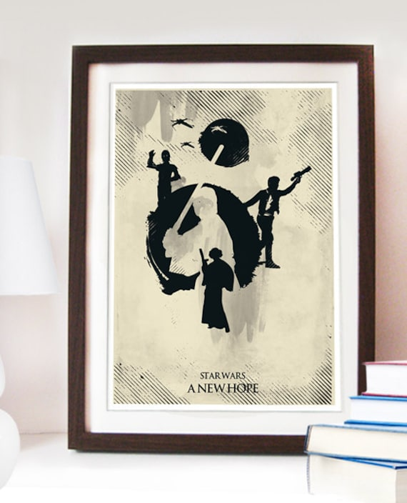 Star Wars a New Hope Poster Different sizes Home Decor