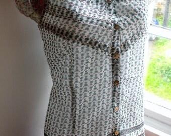Vintage blouse M UK 12 US 8 Eu 40