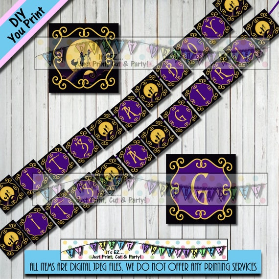 Nightmare Before Christmas BABY SHOWER BANNER Bunting