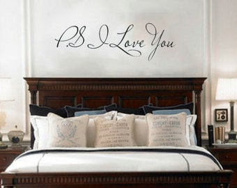 Above Bed Decor Etsy - Wall decals above bed