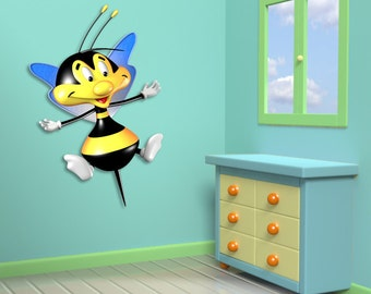 Wall decals bee A185 - Stickers abeille A185