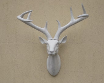 Deer head wall mount etsy for Animal head wall decoration