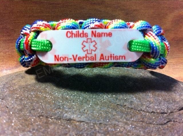 Back To School Kids Autism Name Bracelet Id Medical Alert