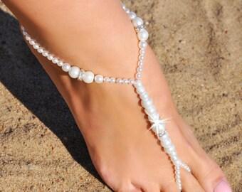 Barefoot Sandals Beaded Beach Wedding Sandal Gold