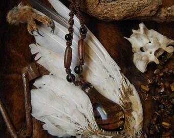 Macrame necklace - Glass.