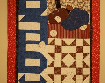 baby quilt pattern sleep baseball player applique pattern