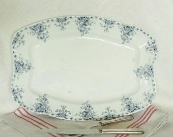 Blue Transferware Grindley English Ironstone Platter