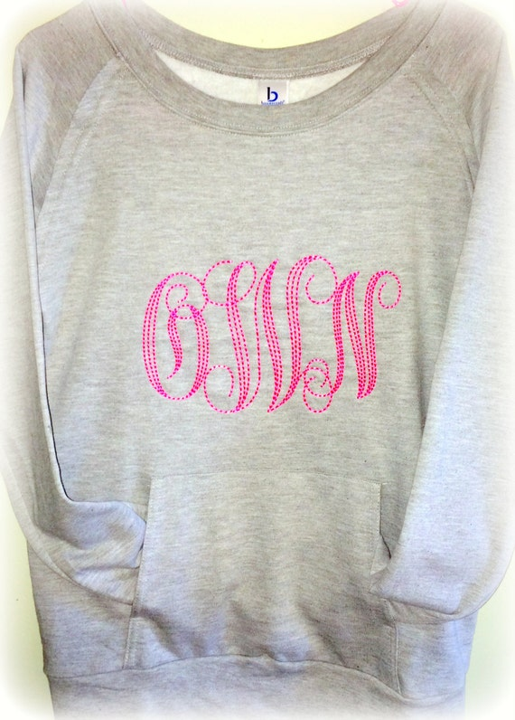 Big Monogram Sweatshirt, Monogrammed Sweatshirt, Bridesmaid gift, Birthday gift, Monogrammed gifts for Girls, Teen girls, Women