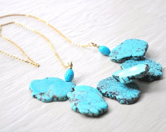Ocean Blue Turquoise Necklace