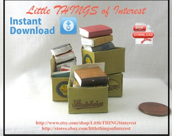 Dollhouse Doll OLD Miniature BOOKS in a BOX Tutorial and Printie Dollhouse 1:12 Scale Miniature 3
