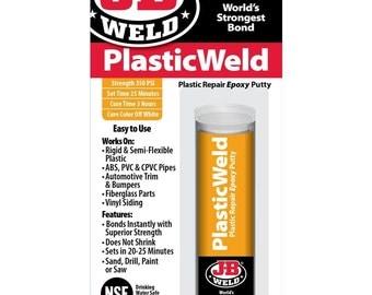 J B Weld Waterweld Epoxy Putty Stick Repair Fiberglass