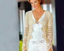 Crochet jacket PATTERN, crochet wedding jacket, elegant crochet jacket, wedding crochet jacket pattern, detailed description in English.