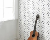 Fishlane Tribal wall stencil - Decorative Scandinavian wall stencil - Reusable - Easy Home Decor - Ethnic -Tribal pattern - Bohemian