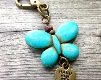 Butterfly Key Charm with Hook for your Key Chain