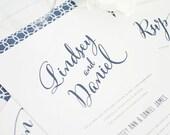 Modern Wedding Invitation - Script, Calligraphy, City Wedding, Urban, Unique - Modern Script Design  - Deposit to Get Started