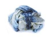 blue silk scarf - Chloe -  beige, ecru, grey, blue, light blue silk scarf.