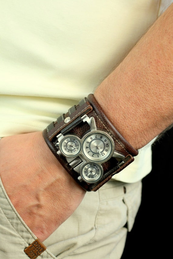 Mens Analog Quartz Wrist Watch - Classic Casual Watch with ... |Wrist Watch For Men Leather