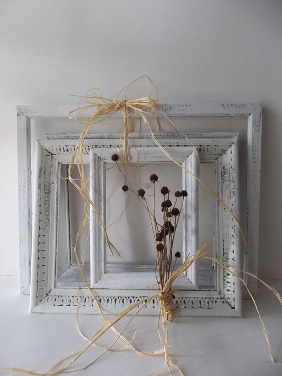 Wood Art Wall Frames Rustic French Farmhouse by 3vintagehearts