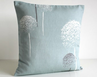 Decorative Pillow Cover, Throw Pillow Cover, Pillow Cover, Cushion Cover, Couch Pillow, Accent Pillow - Clocks Pale Blue