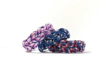 Pick Your Color, Festive, Turks Head Sailor's Paracord Rope Bracelet, Nantucket Surf Beach, Paracord Braid, Traditional Nautical, Ship Knot