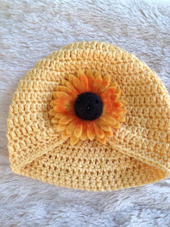 Sunflower Crochet Baby Hat Pattern : Sunflower Crochet Hat Crochet Baby Hats Toddler Sun Hats