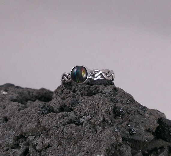 Items Similar To Opal Ring Exquisite Braided Opal: Items Similar To Sterling Silver Braided Wire Opal Ring On