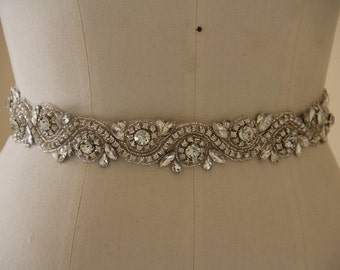 Wedding Belt, Bridal Belt, Wedding Accessory made of Crystal Rhinestones, sparkly Bridal Sash, Crystal Wedding Belt.