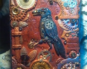 RESERVED for Karen Lay  - Steampunk inspired polymer clay journal